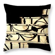 Sunset Steps Throw Pillow