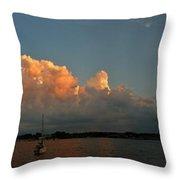 Sunset Storm Clouds Panorama Throw Pillow
