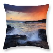 Sunset Storm Passing Throw Pillow by Mike  Dawson