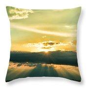 Sunset Sunbeams Throw Pillow