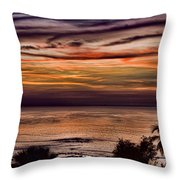 Sunset Swirl Throw Pillow