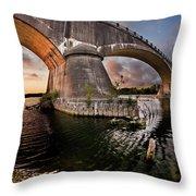 Sunset Through Fernbridge Throw Pillow