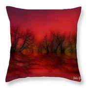 Sunset Trees Throw Pillow