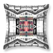Sunset Two Gray Hill Throw Pillow