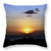 Sunset Upon The Ocean Number Two Throw Pillow