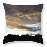 Sunset Valley Of Fire Throw Pillow