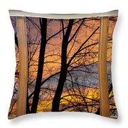 Sunset Window View Throw Pillow