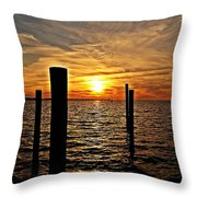 Sunset X Throw Pillow
