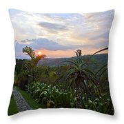 Sunsetting Over Costa Rica Throw Pillow