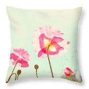 Sunshine And Poppy Throw Pillow by Kim Fearheiley