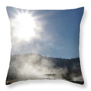 Sunshine Hot Springs Throw Pillow