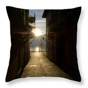 Sunshine In An Alley Throw Pillow