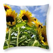 Sunshine Lolipops Throw Pillow