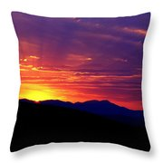 Sunshine Mountain Range Throw Pillow
