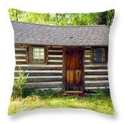 Sunshine On The Little Cabin Throw Pillow
