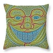 Sunshine Smile Art Throw Pillow