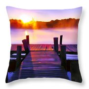 Sunup Over Rock Creek Throw Pillow