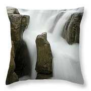 Sunwapta Falls 2 Throw Pillow