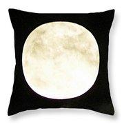 Super Moon I Throw Pillow