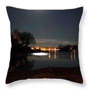 Super Moon Night   2 Throw Pillow