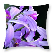 Super Orchid Throw Pillow