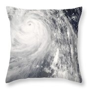 Super Typhoon Wipha Throw Pillow