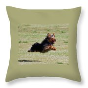 Super Yorkie Throw Pillow