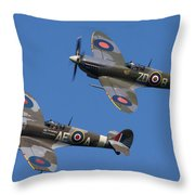 Supermarine Spitfires Throw Pillow