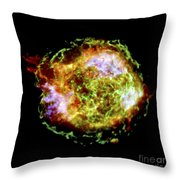 Supernova Remnant Cassiopeia A Throw Pillow