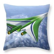 Supersonic Aircraft Design Throw Pillow