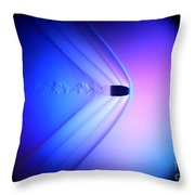 Supersonic Bullet Throw Pillow