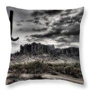 Superstition Saguaro  Throw Pillow