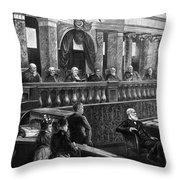 Supreme Court, 1888 Throw Pillow