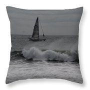 Surf And Sail Throw Pillow