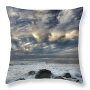 Surf At Gillespies Beach Near Fox Throw Pillow