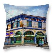 Surf Avenue Museum Throw Pillow