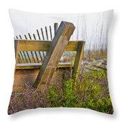 Surf City Chair Throw Pillow