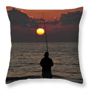 Surf Fishing 1 Throw Pillow