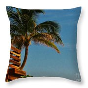 Surf Lookout Throw Pillow