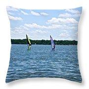 Surf Sailors Throw Pillow