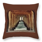 Surfer's Labyrinth  Throw Pillow