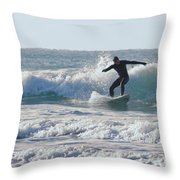 Surfing The Atlantic Throw Pillow