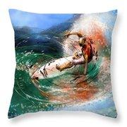 Surfscape 03 Throw Pillow