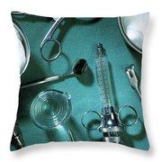 Surgical Still Life. Throw Pillow
