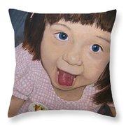 Surprise Throw Pillow by Tanya Petruk
