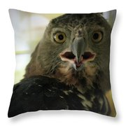 Surprized Throw Pillow