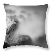 Surreal Rocks Throw Pillow