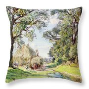 Surrey Landscape  Throw Pillow