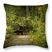 Surrounded By American Beauty Throw Pillow