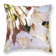 Surrounded By Spring Throw Pillow